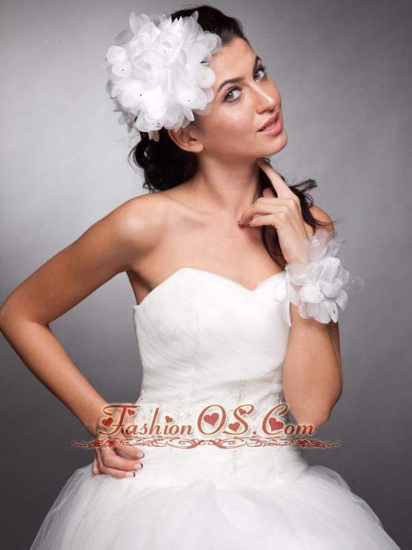 Organza Headpieces Hand Made Flowers Wedding Wrist Corsage