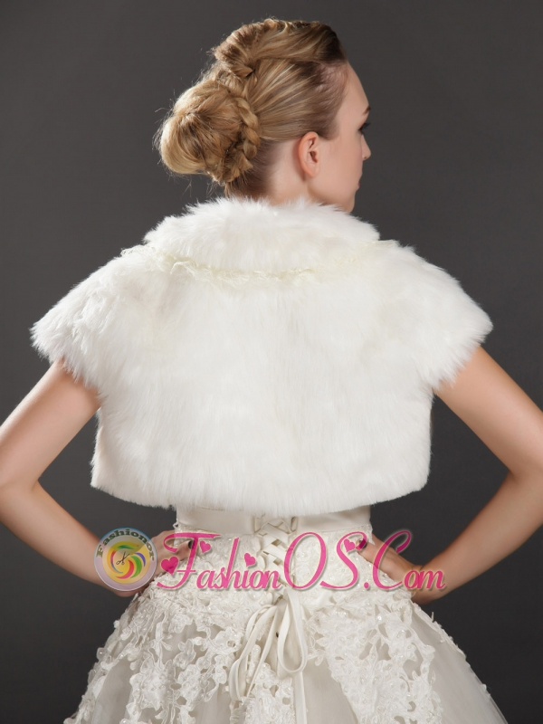 Rabbit Fur Special Occasion Short Sleeves Jacket