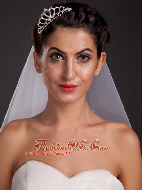 Perfect Sweetheart Shaped Tiara With Rhinestone Decorate