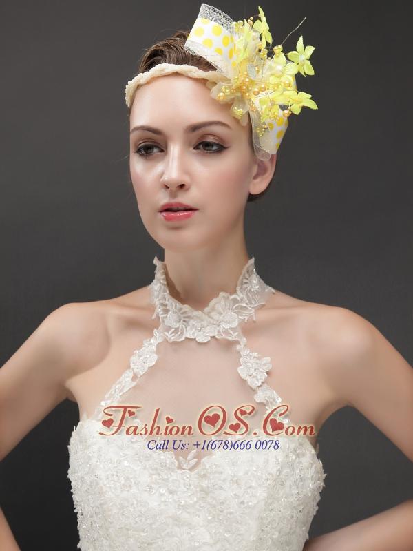Amazing Imitation Pearls Adorned Women 's Fascinators