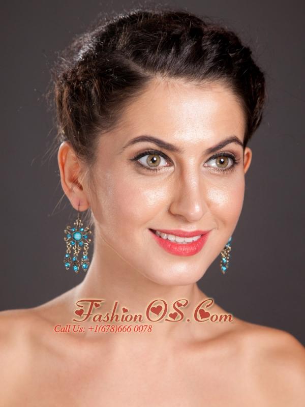 Elegant Silver Plated Chandelier Drop Earrings