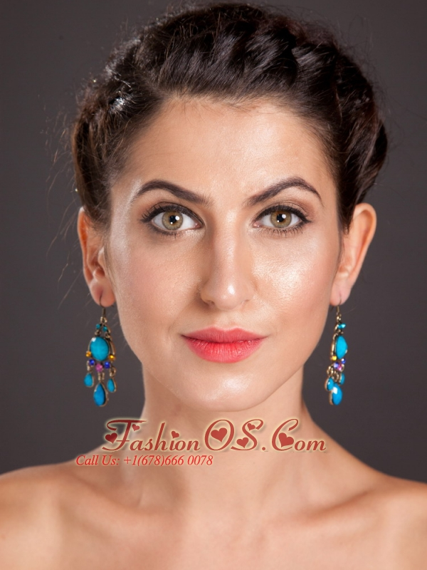 Gorgeous Silver Plated Chandelier Drop Earrings