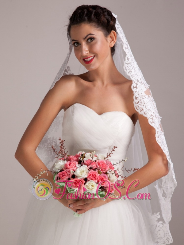 Lovely Coral And White Round Hand-tied Satin Rose Wedding Bouquet