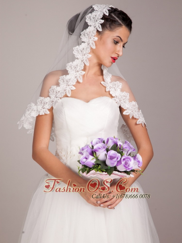 Pretty Lavender Rose Hand-tied Wedding Bridal Bouquet