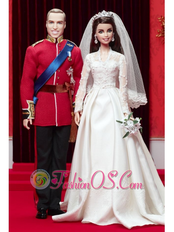 A-line Wedding Dress To Quinceanera Doll With Lace