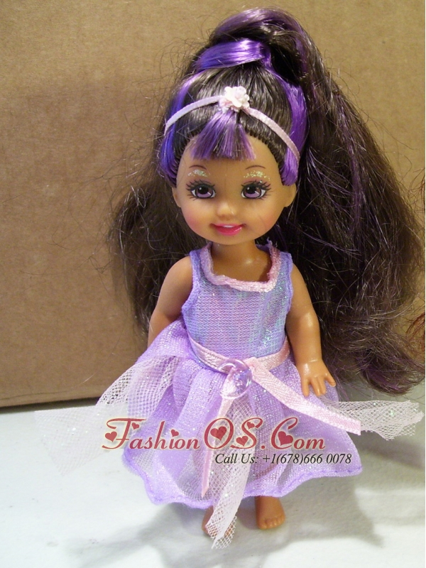 Cute Party Dress With Purple Tulle Made To Fit The Quinceanera Doll