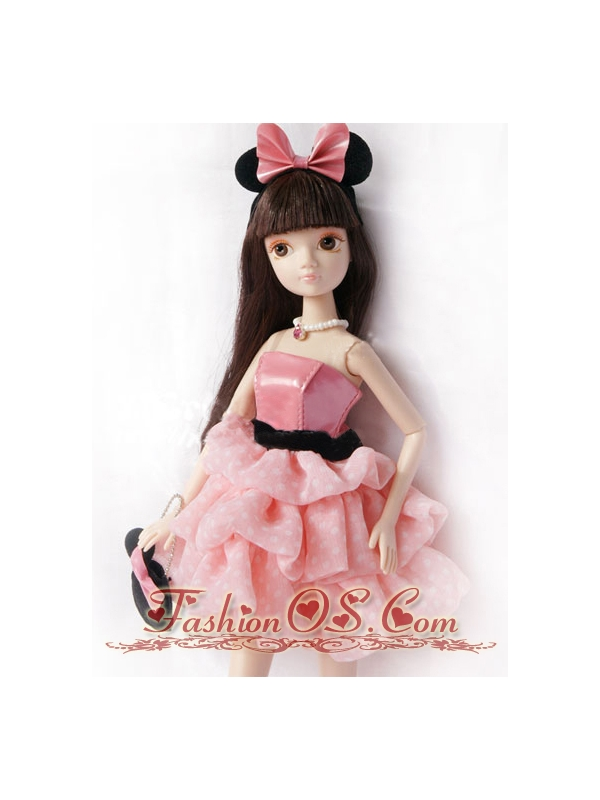 Pretty Princess Dress For Quinceanera Doll With Pick-ups