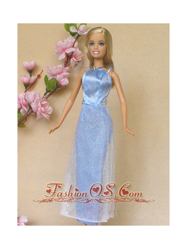 Simple Baby Blue Holiday Dress To Quinceanera Doll