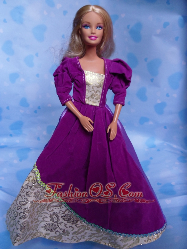 The Most Amazing Purple Dress With Organza Made To Fit The Quinceanera Doll