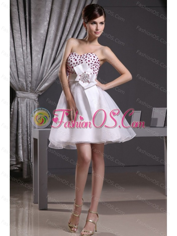 Beaded Decorate Bust and Sash For 2013 Prom Dress Organza