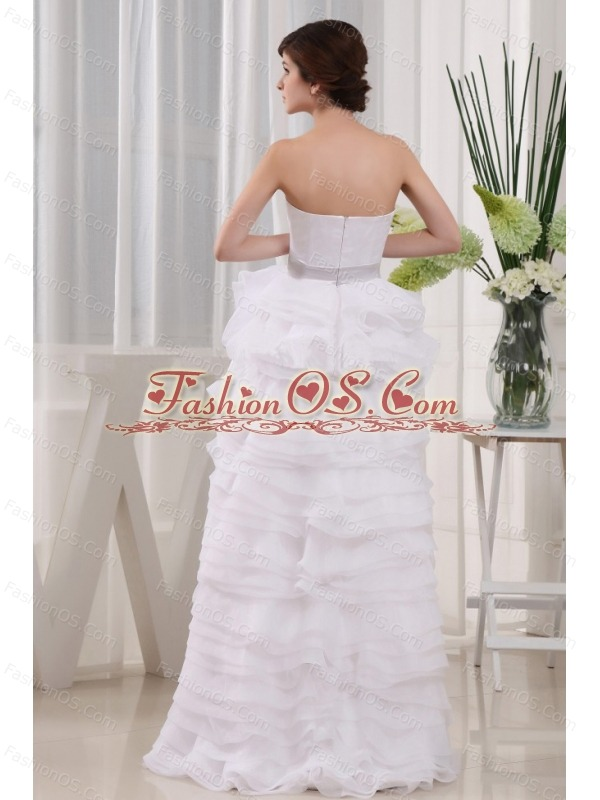 High-low Sweetheart and Ruffles For 2013 Wedding Dress