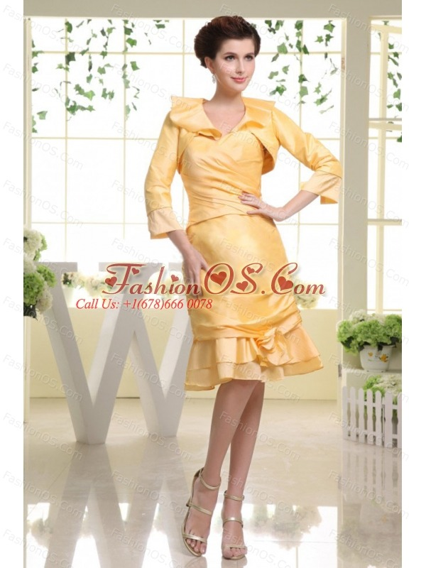 Yellow Prom Dress With Custom Made Sweetheart