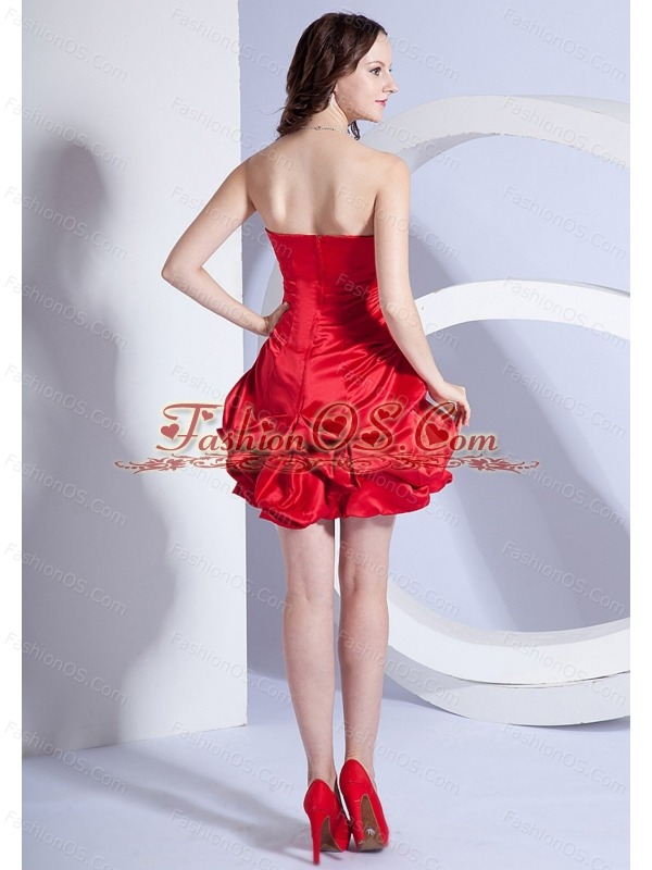 Beading Decorate Bodice A-line Mini-length Strapless 2013 Prom Dress