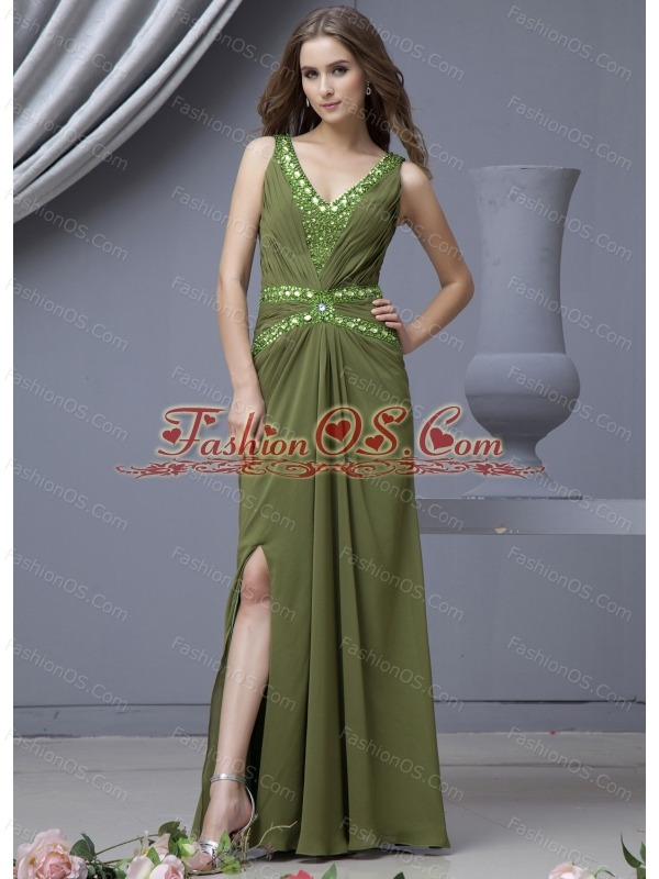 Olive Green Prom Dresses,Deep Green,Hunter Green,Prom Evening Gowns