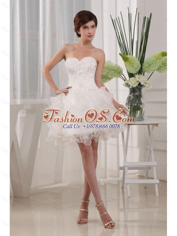 2013 Custom Made Ball Gown White Prom Cocktial Dress With Sweetheart