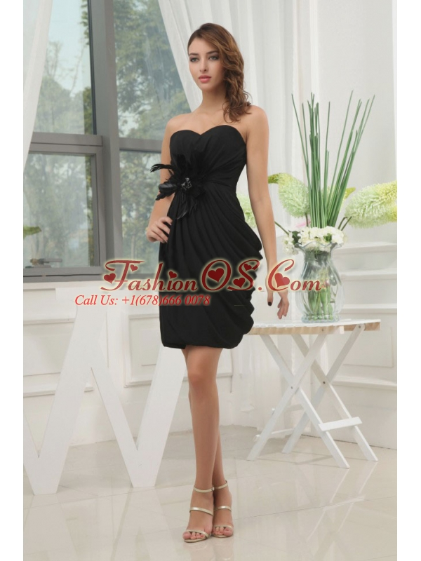 Black Sweetheart and Feather For 2013 Prom Dress