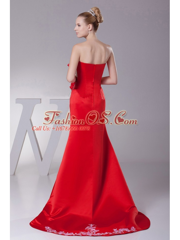 Hand Made Flowers and Appliques For 2013 Custom Made Prom Dress