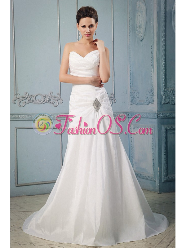 Princess Sweetheart Appliques and Ruch Wedding Dress With Taffeta In 2013