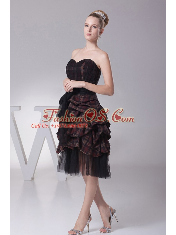 Sweetheart and Sash For Prom Dress With Knee-length