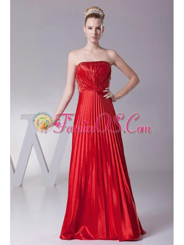 Red Pleat Over Skirt For Custom Made Prom Dress