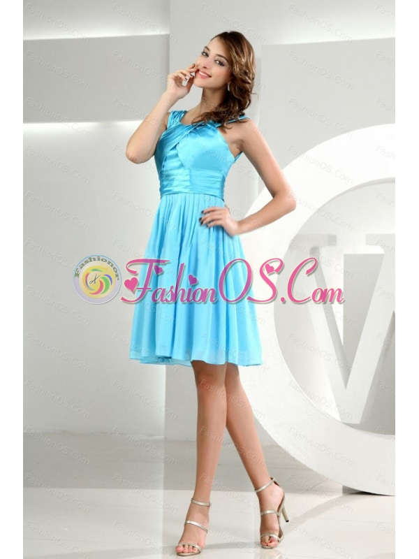 Baby Blue Chiffon 2013 Discount Dama Dress