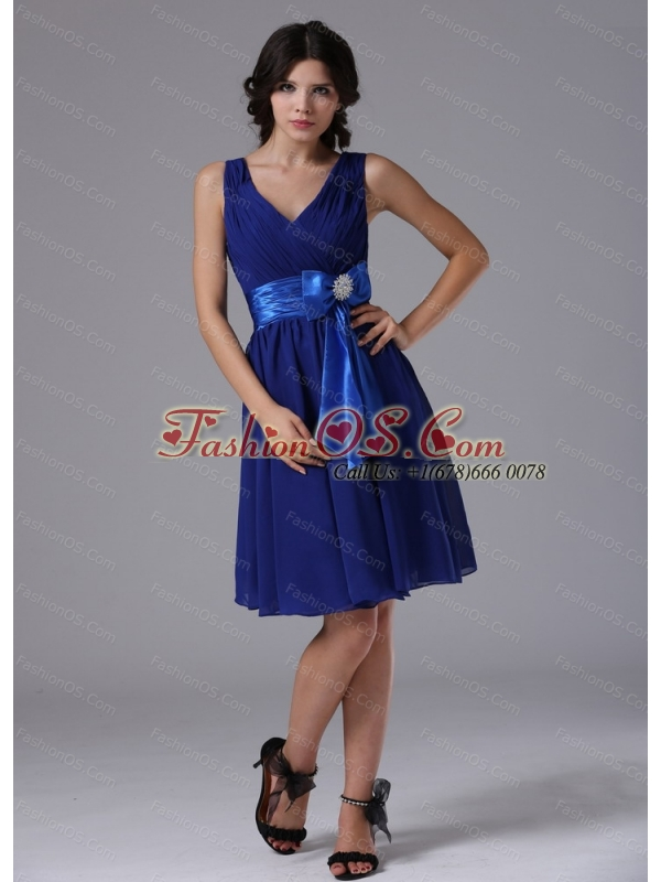 Discount Peacock Blue For 2013 Dama Dresses for Quinceanera With Sash