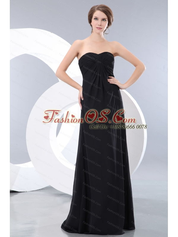 2013 Custom Made Ruch Sweetheart Black Dama Dress
