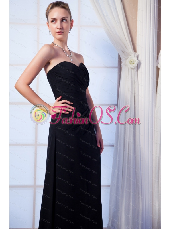 Couture Ruch Sweetheart Floor-length Dama Dress