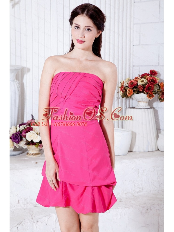 Ruch Hot Pink Mini-length Taffeta Dama Dress 2013