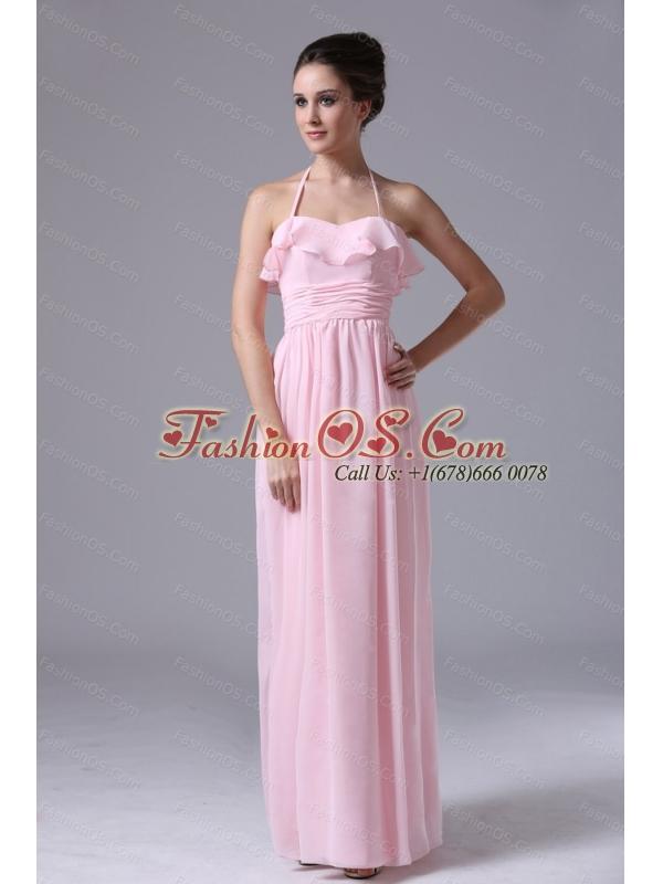 2013 Custom Made Pink Halter Dama Dress Online