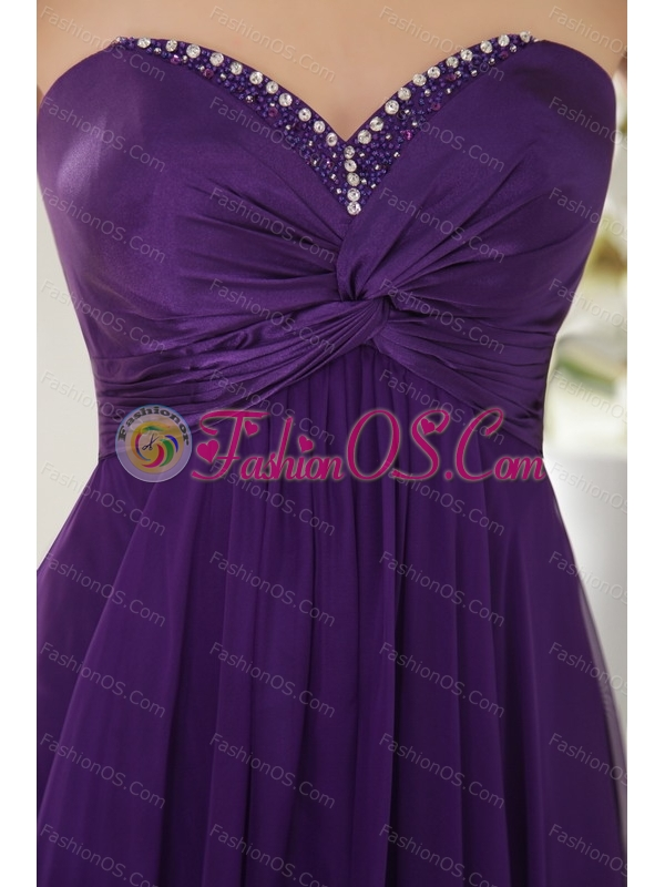 2013 Online Beaded Eggplant Purple Sweetheart Dama Dress