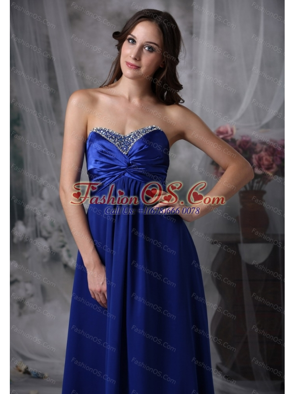 Beaded Royal Blue Dama Dress Quinceanera On Sale
