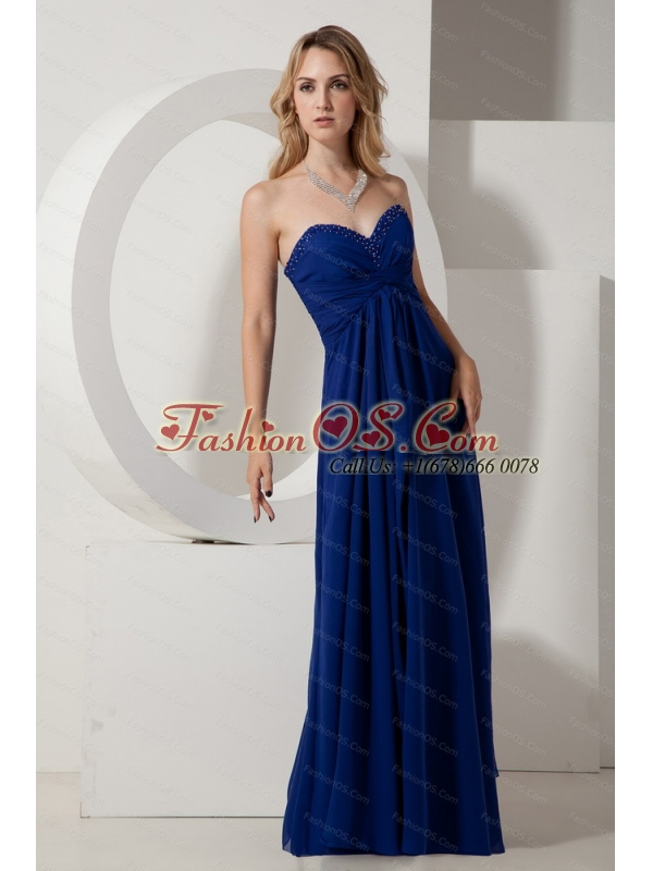 Beading Sweetheart Floor-length Chiffon Dama Dress