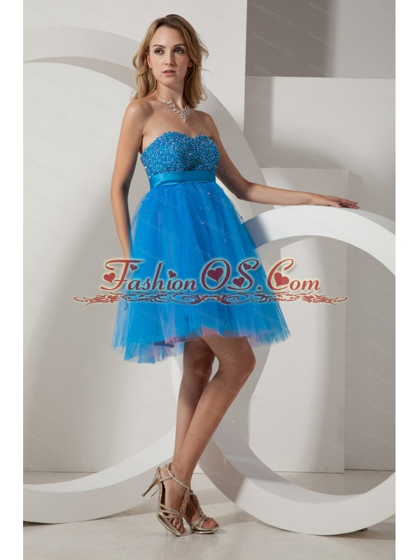 Beading Sweetheart Mini-length Taffeta and Tulle for sale Dama Dress