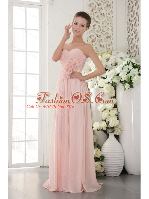 Light Pink 3D Flower Sweetheart Dama Dresses for Quinceanera- $132.69