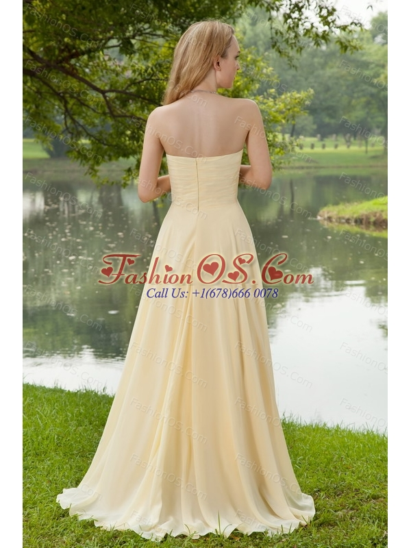 Sweetheart Brush Train Champagne Dama Dress 2013