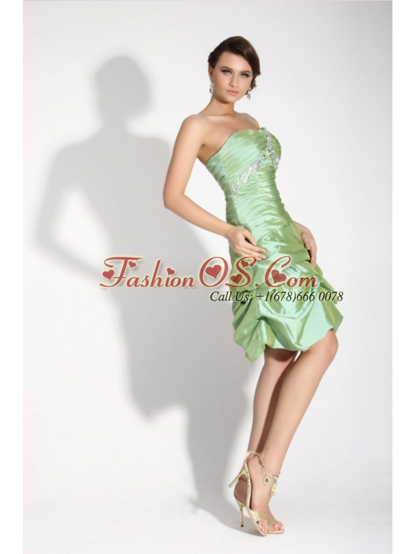 Apple Green Sweetheart  Prom Dress with Beading and Ruchin