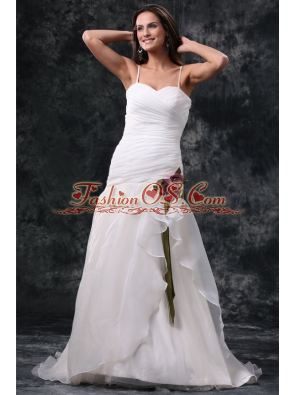 Column Off The Shoulder Brush Train Taffeta Wedding Dress