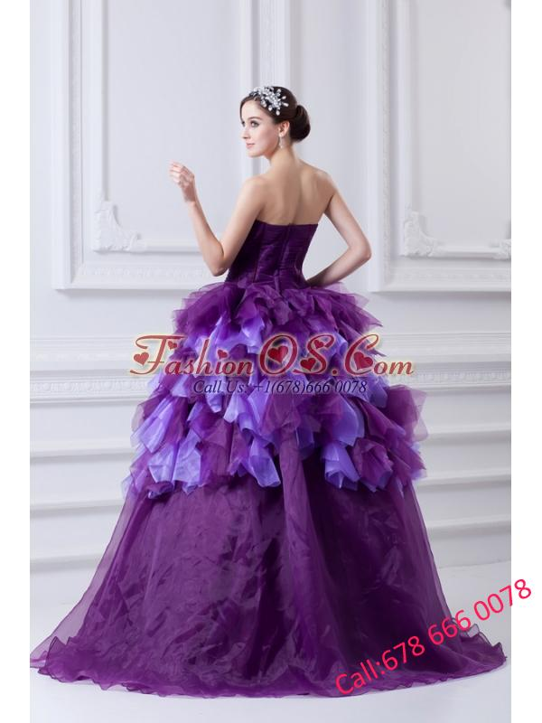 2014 Beading Multi-color Sweetheart Ball Gown Quinceanera Dress with Ruffles