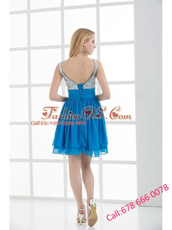 A-line Straps Sleeveless Beading and Ruching