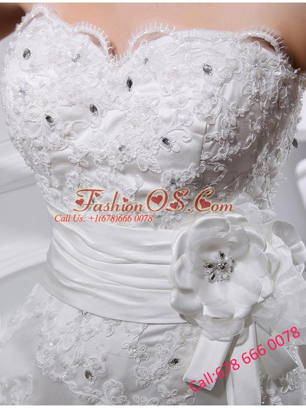 Sexy Mermeid  Sweetheart Court Train Lace Wedding Dress with Appliques