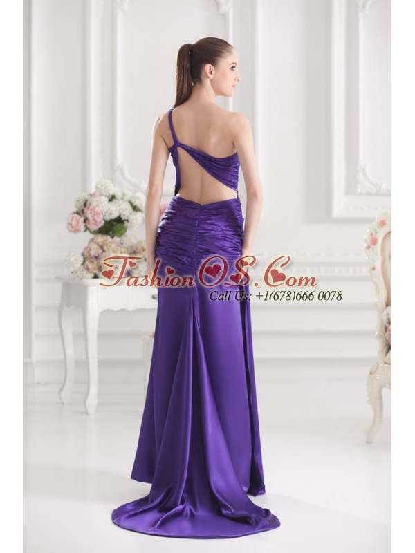 Column One Shoulder Floor-length Taffeta Prom Dress