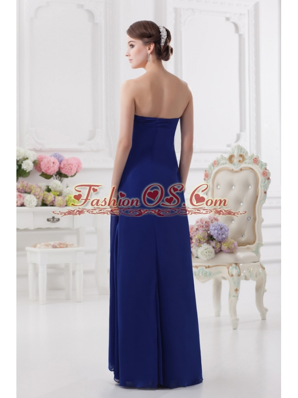 Sweetheart Dark Blue Appliques Floor-length Prom Dress