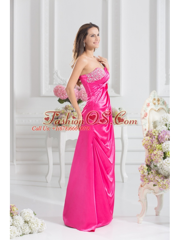 Sweetheart Empire Prom Dress with Beading and Ruching