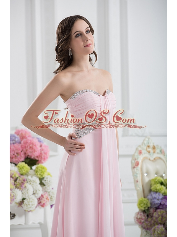 Sweetheart Empire Sequins Prom Dress with Ruching