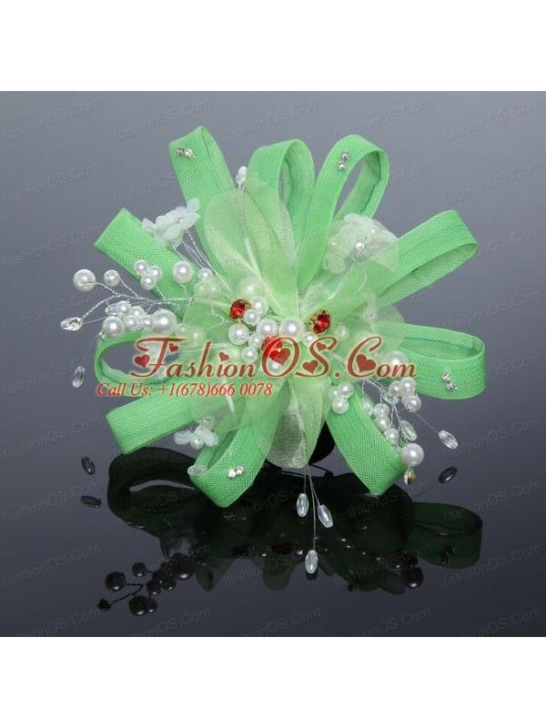 Elegant Feather Tulle Fascinators with Imitation Pearls