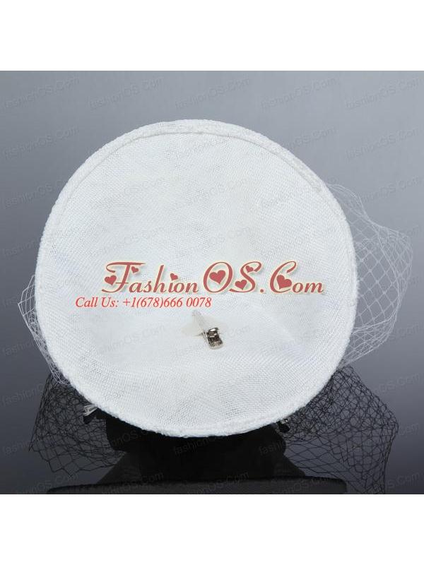 Cheap White Rhinestone Feather Imitation Pearls Hat Hair Ornament