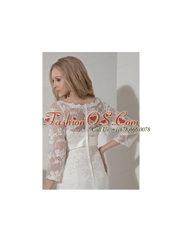Embroidery 3/4 Sleeves Jacket With Tulle