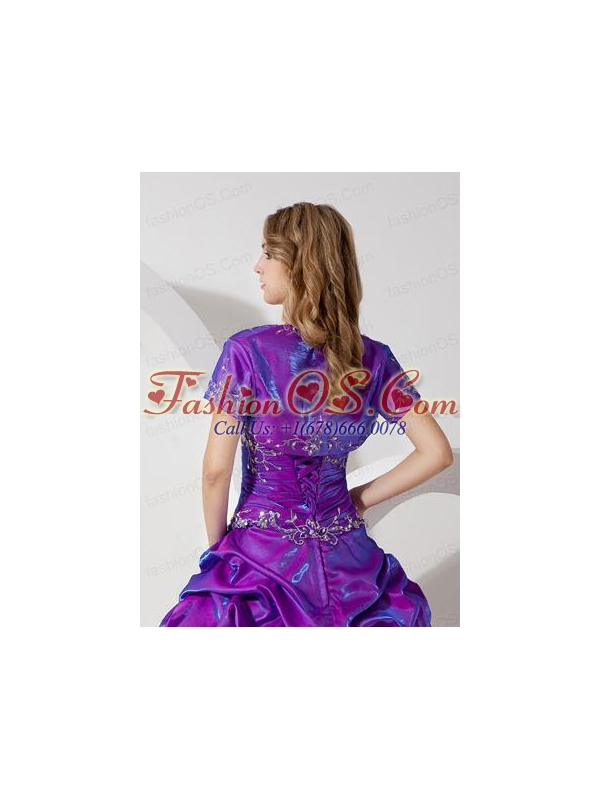 Unique and Affordable Open Front Quinceanera Jacket in Purple For 2015