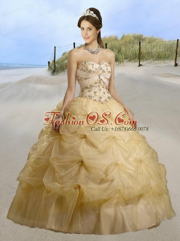 2015 Modern Sweetheart Beading and Ruffles Dresses for Quinceanera